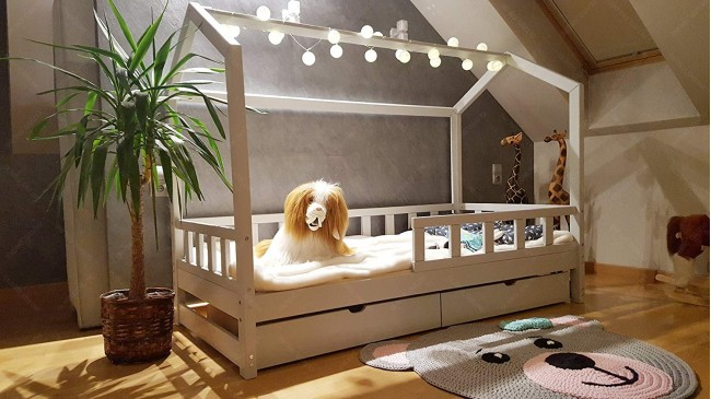 Bed 180 Breed.House Bed Bella With Barrier And Drawer 90 X 180cm Mon