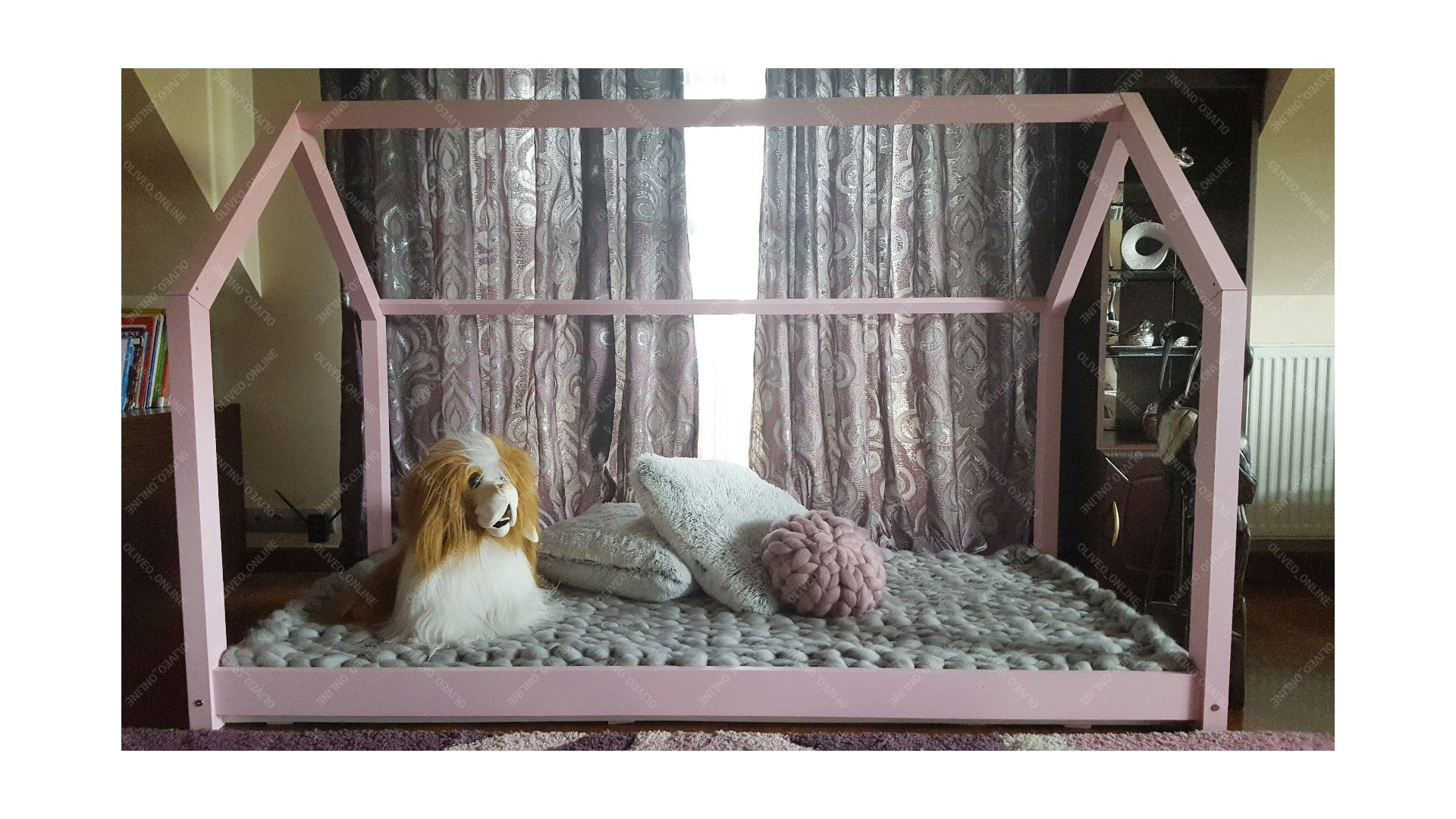 Bed 140 Breed.House Bed Bella Pink 137 Cm 191 Cm Full Size Mon