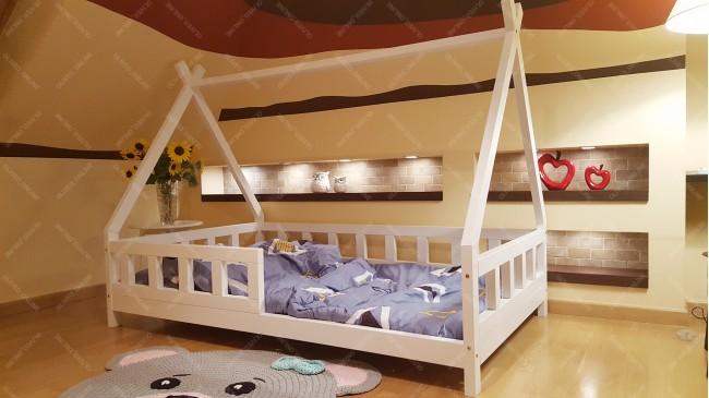 lit cabane tipi lila 60 x 120cm - Lit Queen Size